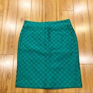 Banana Republic Green Polka Dot Skirt